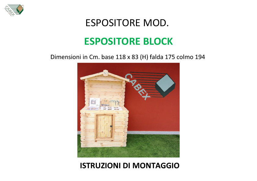 27 ESPOSITORE BLOCK